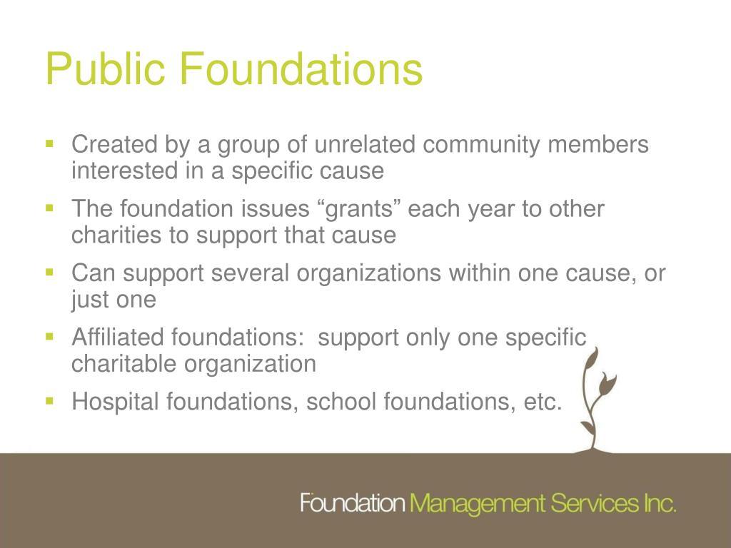 Public Foundations