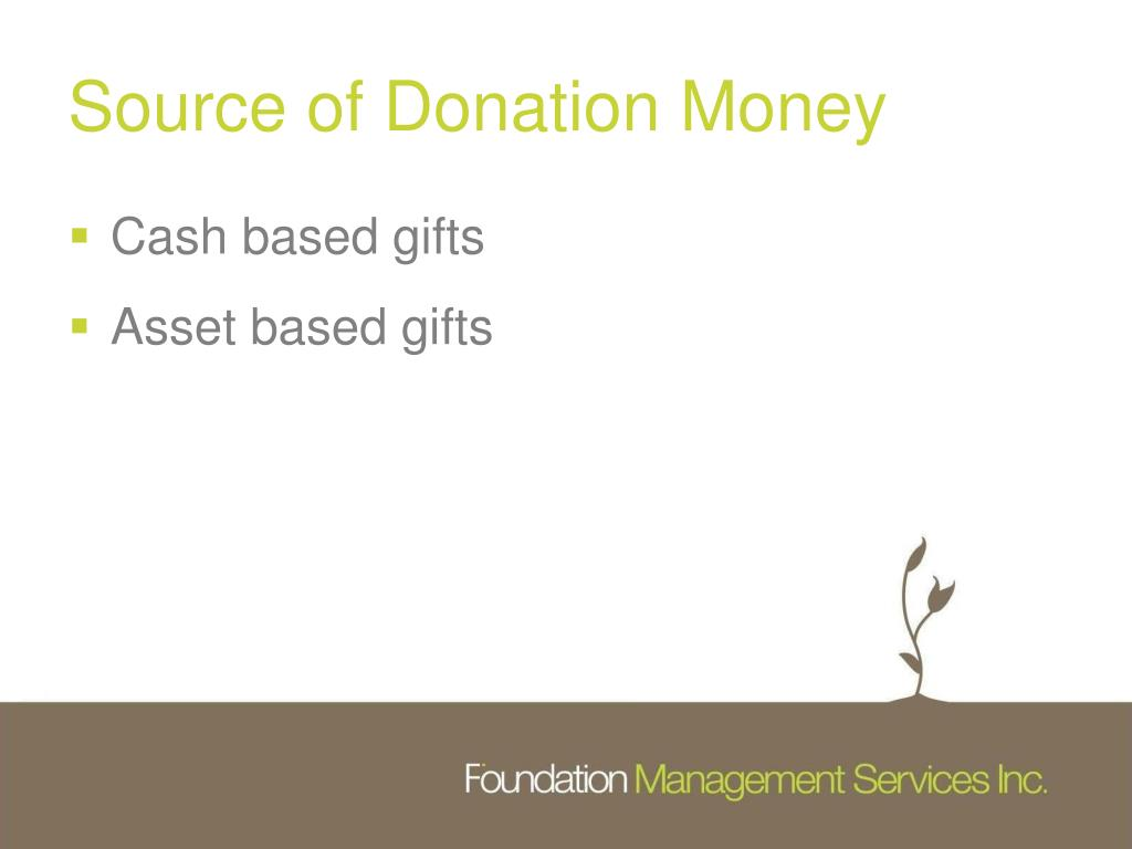 Source of Donation Money
