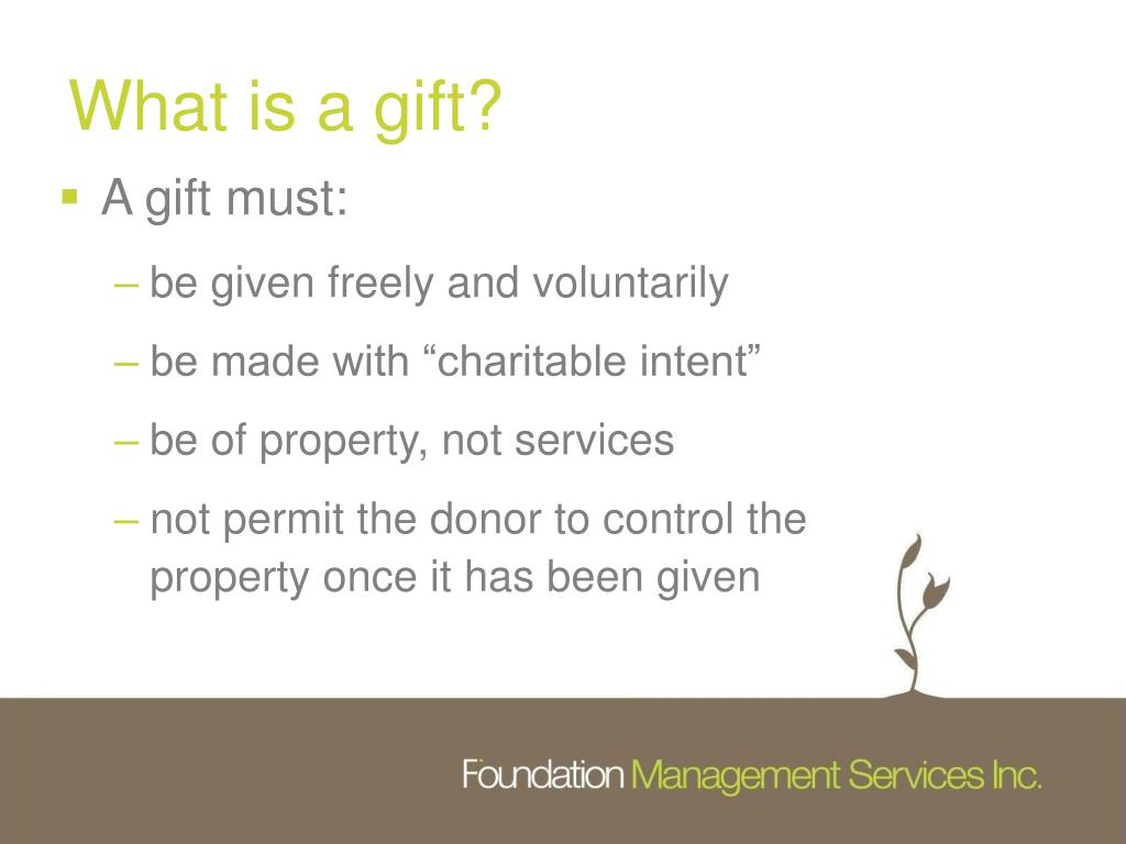 What is a gift?