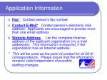 application information10