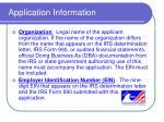 application information7