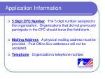 application information8