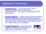 application information9
