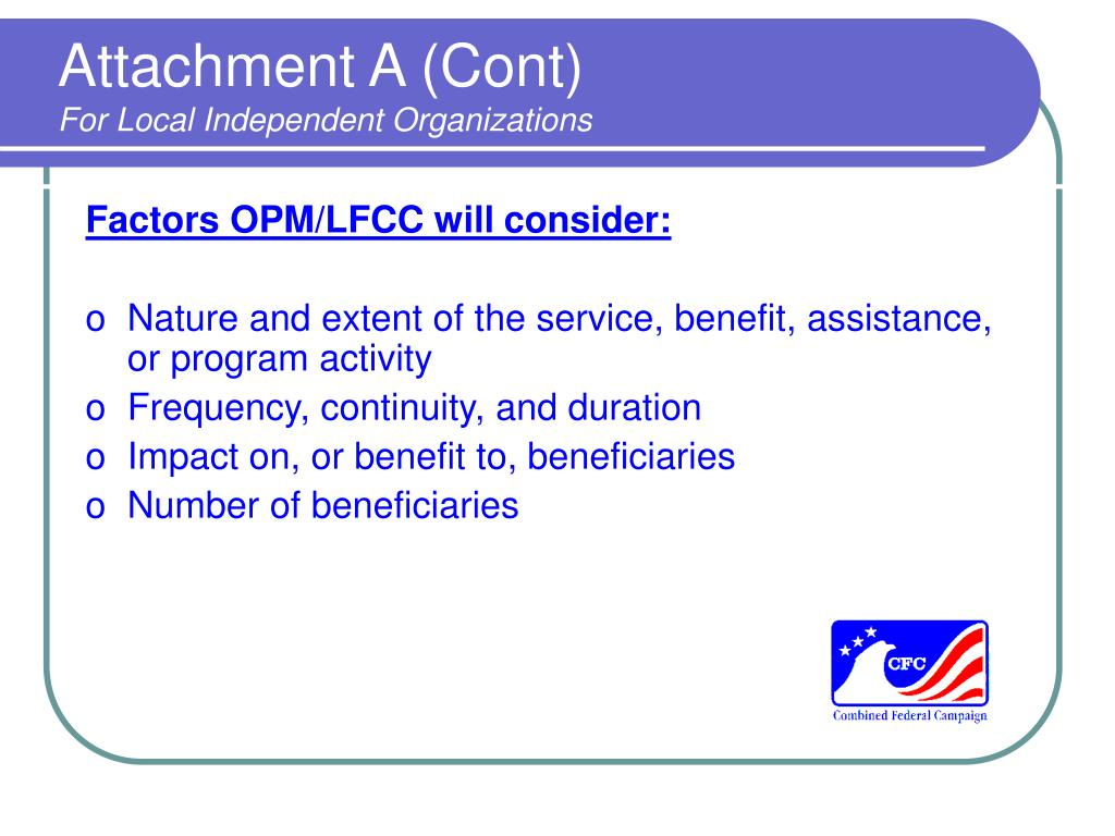 Attachment A (Cont)