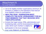 attachment a for local federations