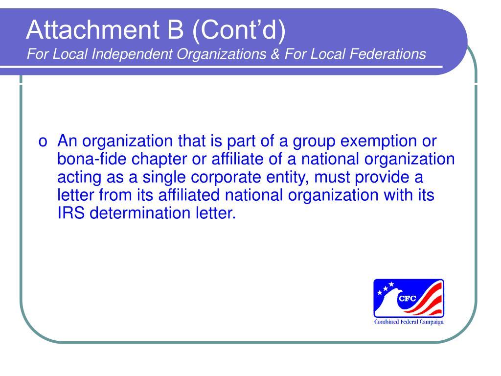 Attachment B (Cont'd)