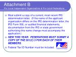 attachment b for local independent organizations for local federations