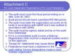 attachment c for local independent organizations for local federations