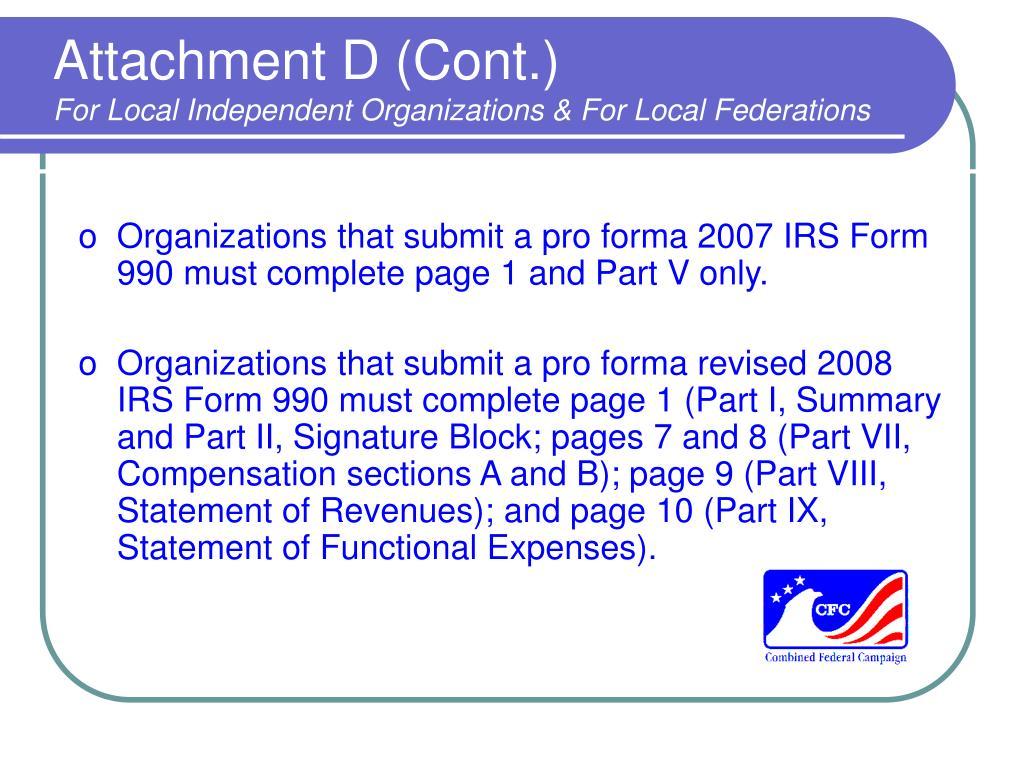 Attachment D (Cont.)