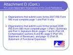 attachment d cont for local independent organizations for local federations
