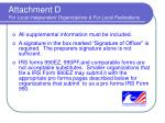attachment d for local independent organizations for local federations