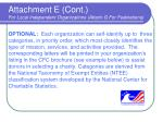 attachment e cont for local independent organizations attach g for federations57
