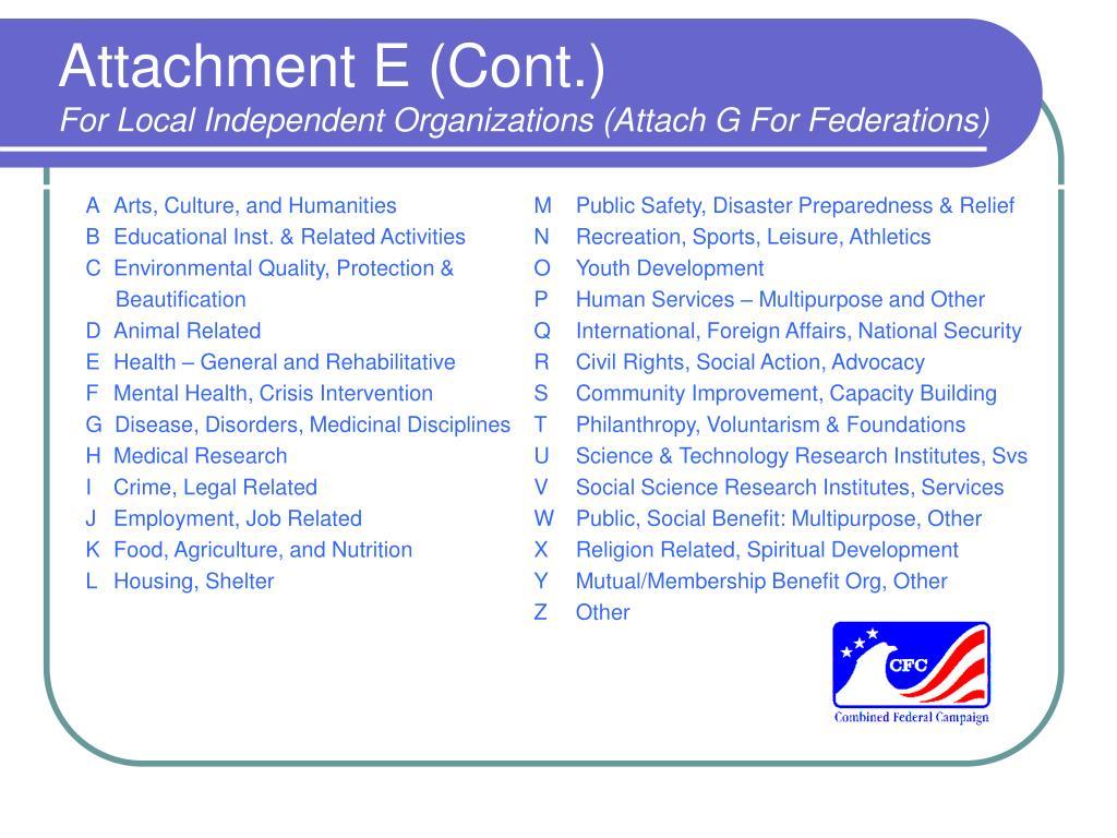 Attachment E (Cont.)