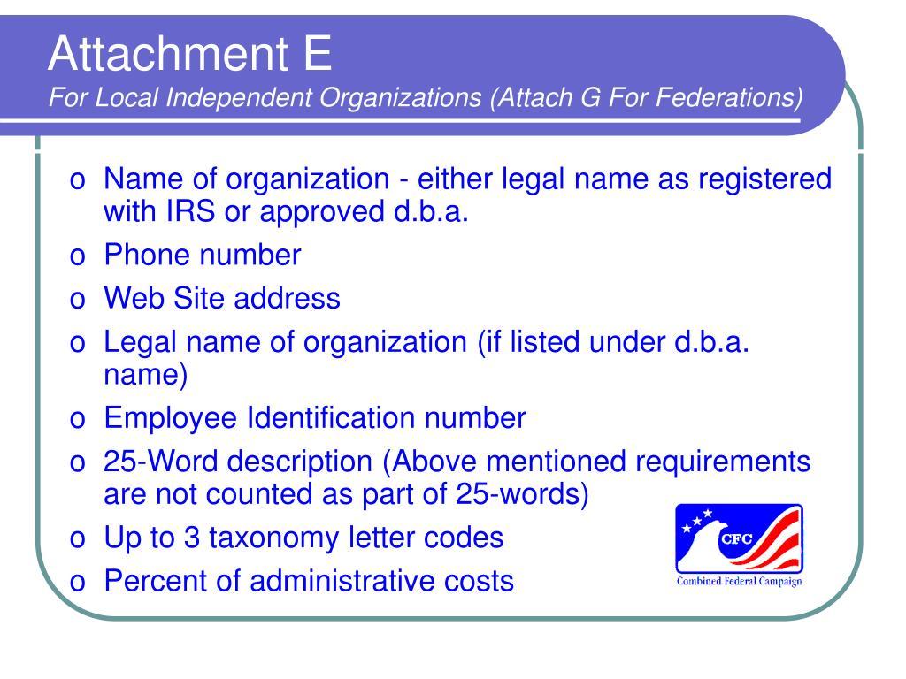 Attachment E