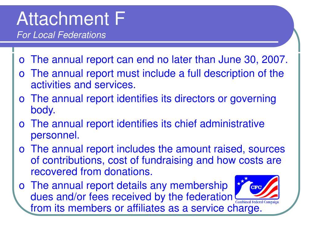 Attachment F