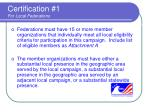 certification 1 for local federations
