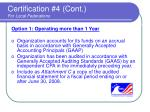 certification 4 cont for local federations