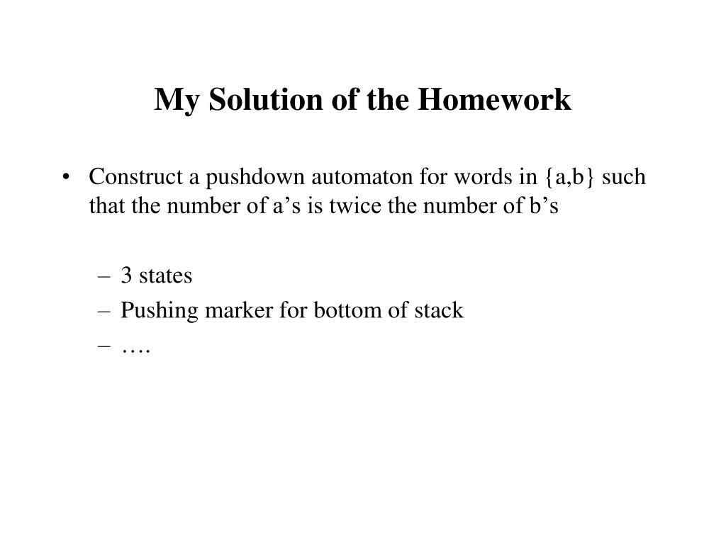 My Solution of the Homework