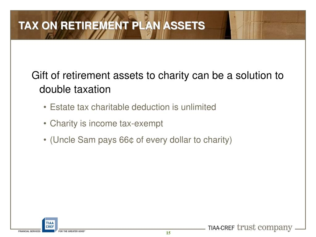 TAX ON RETIREMENT PLAN ASSETS