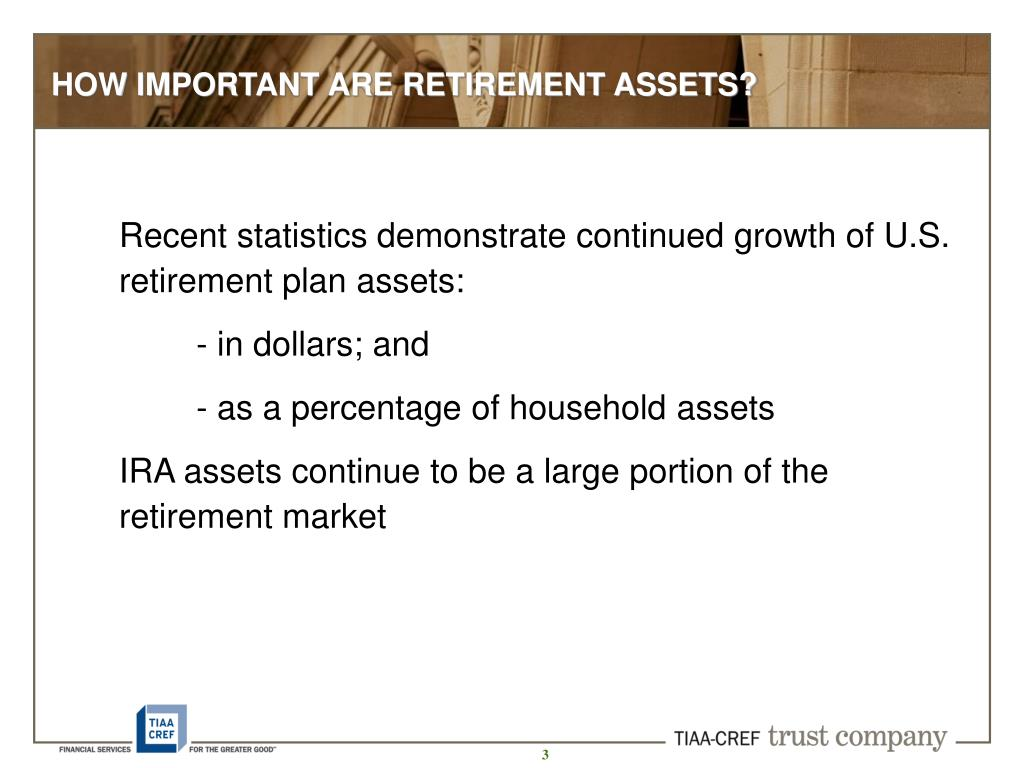 HOW IMPORTANT ARE RETIREMENT ASSETS?