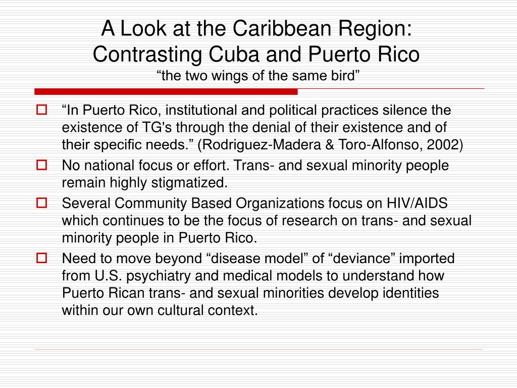 A Look at the Caribbean Region: