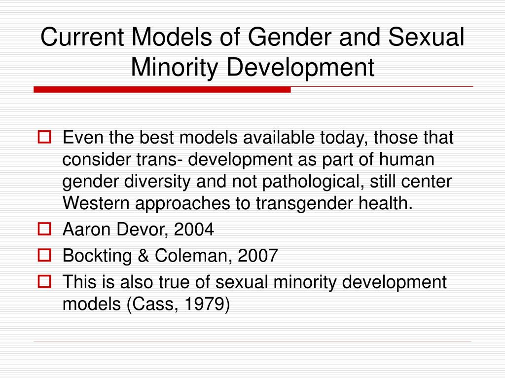 Current Models of Gender and Sexual Minority Development