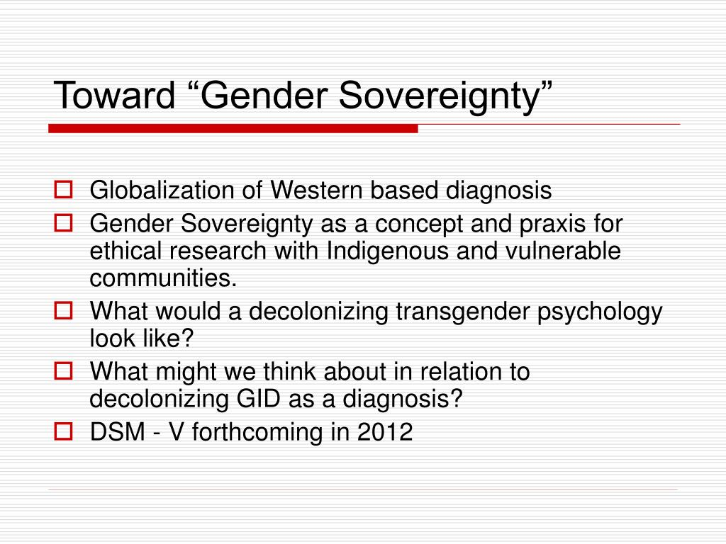 "Toward ""Gender Sovereignty"""