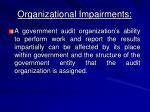 organizational impairments