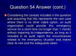 question 54 answer cont