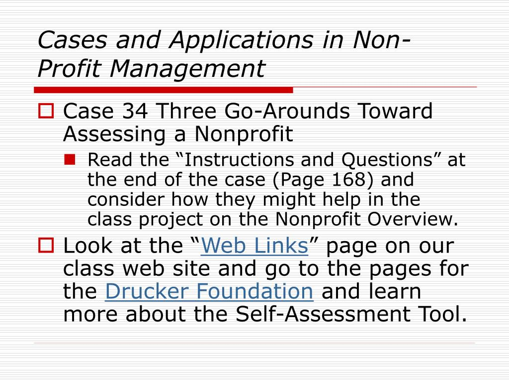 Cases and Applications in Non-Profit Management
