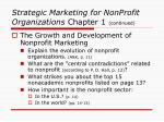 strategic marketing for nonprofit organizations chapter 1 continued10
