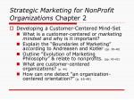 strategic marketing for nonprofit organizations chapter 2