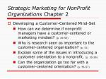 strategic marketing for nonprofit organizations chapter 217