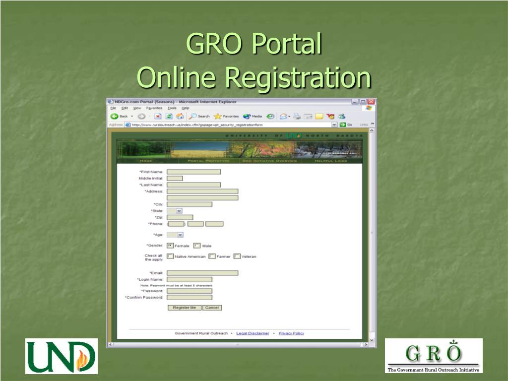 GRO Portal