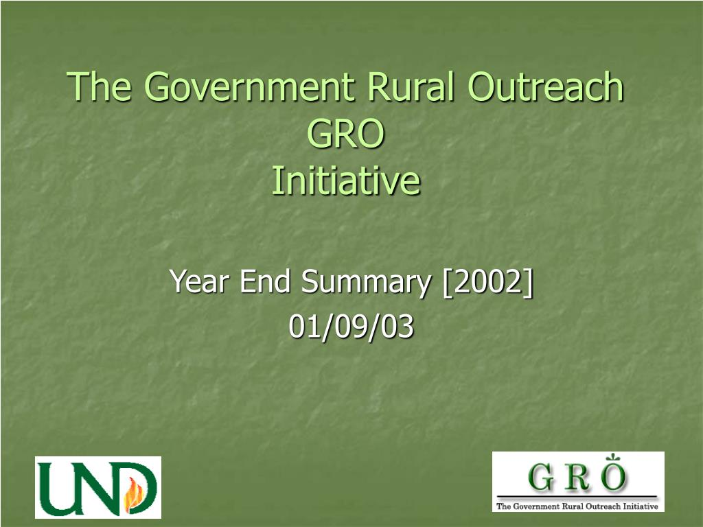 The Government Rural Outreach