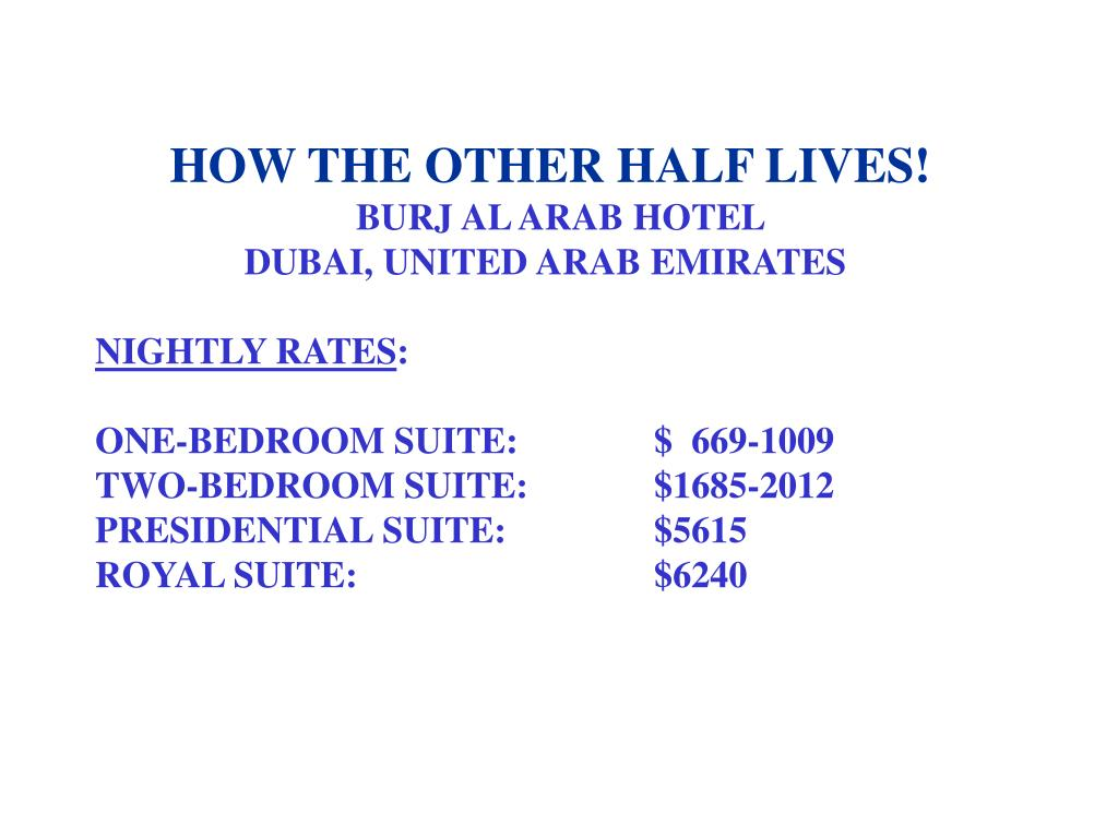 HOW THE OTHER HALF LIVES!