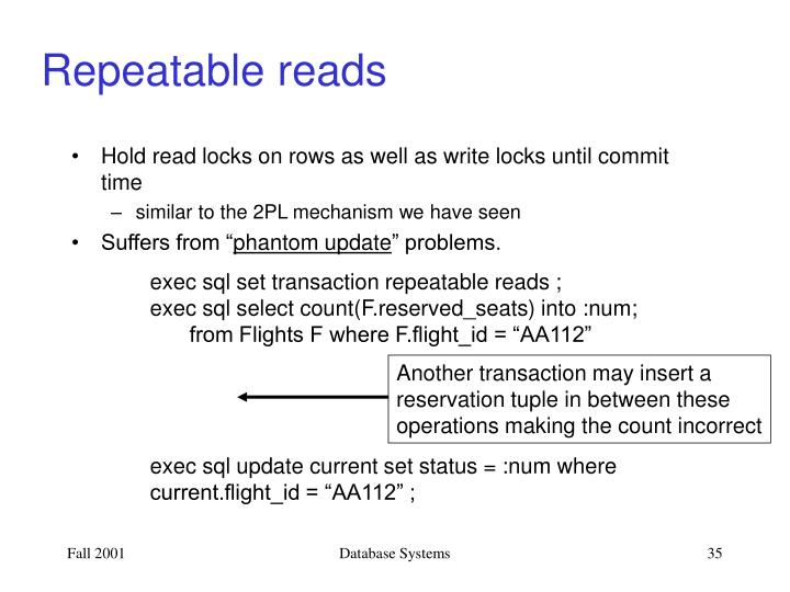 Repeatable reads