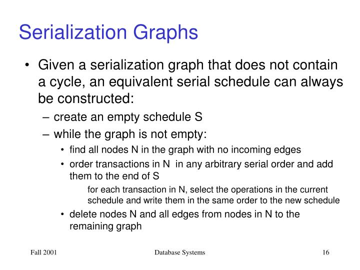 Serialization Graphs
