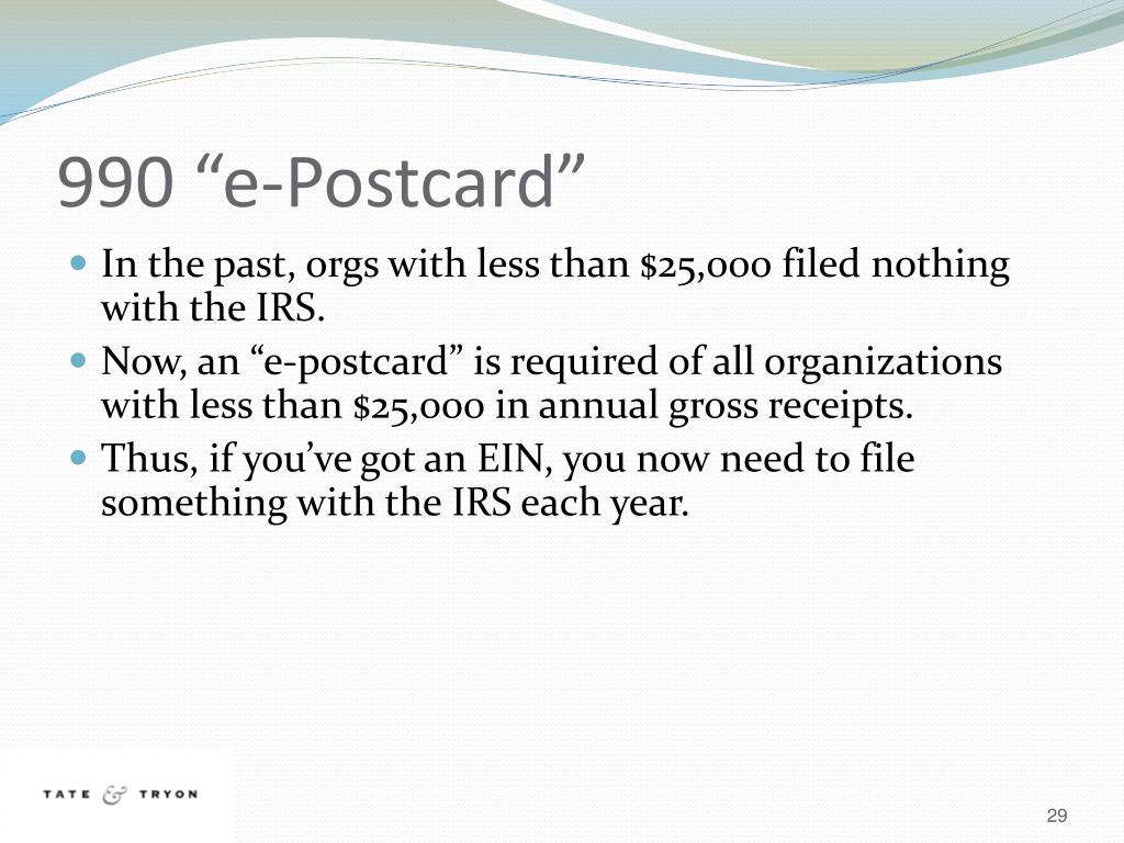 "990 ""e-Postcard"""