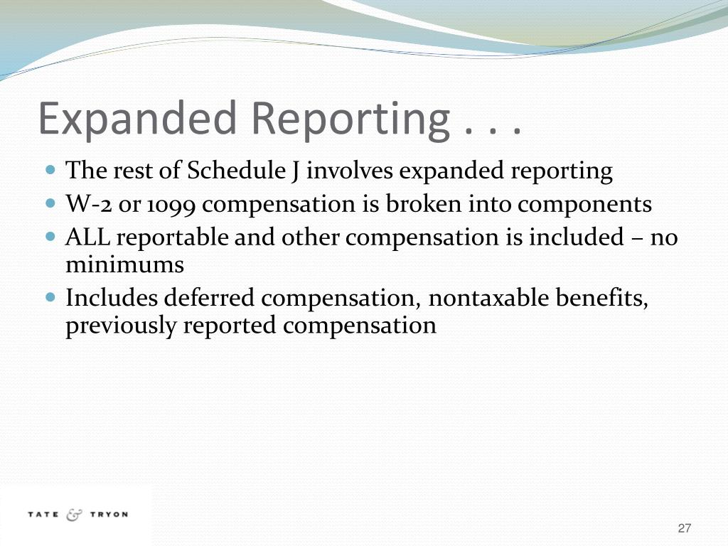 Expanded Reporting . . .