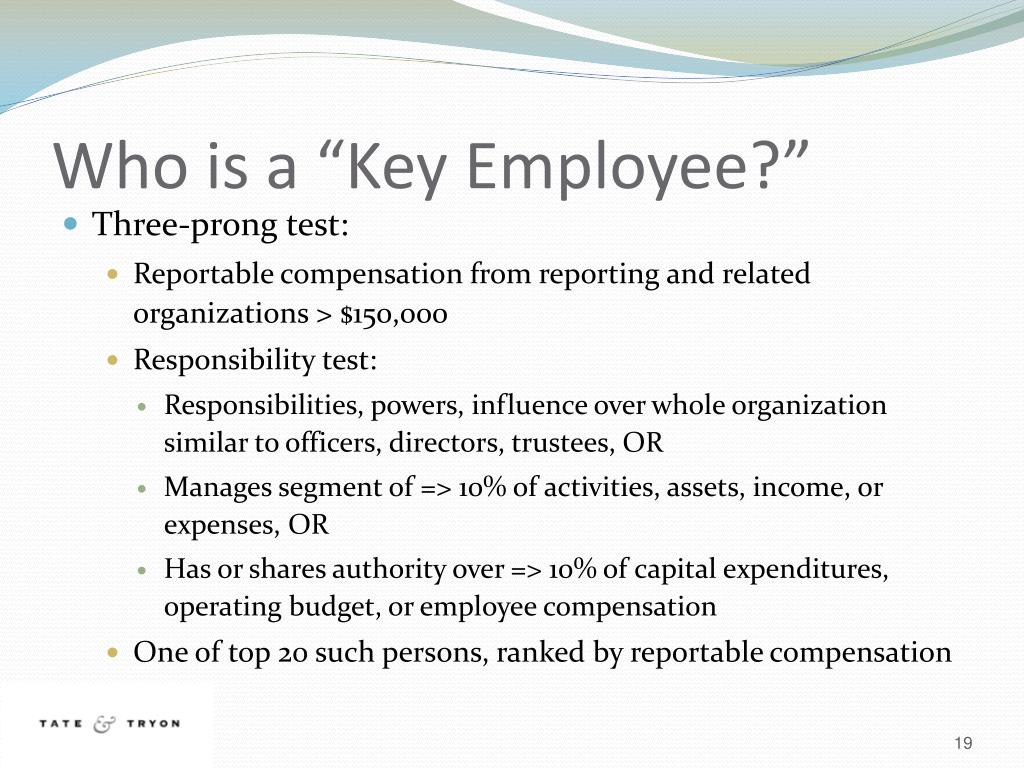 """Who is a """"Key Employee?"""""""