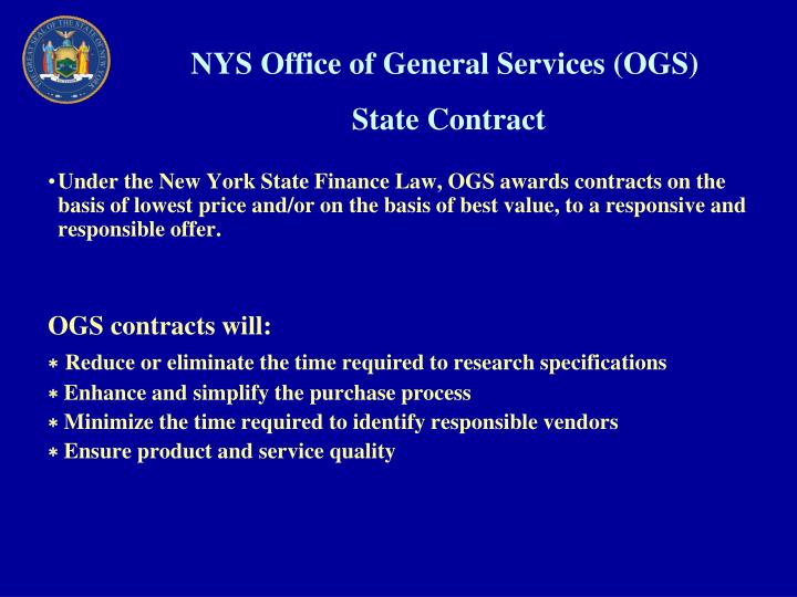 NYS Office of General Services (OGS)