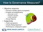 how is governance measured
