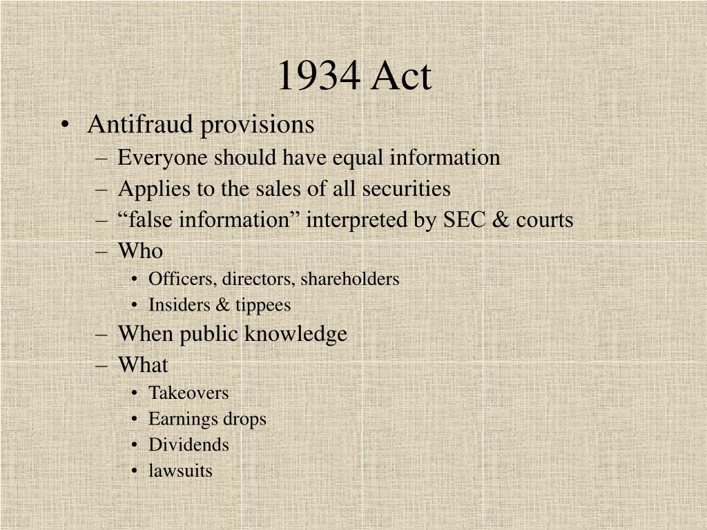 1934 Act