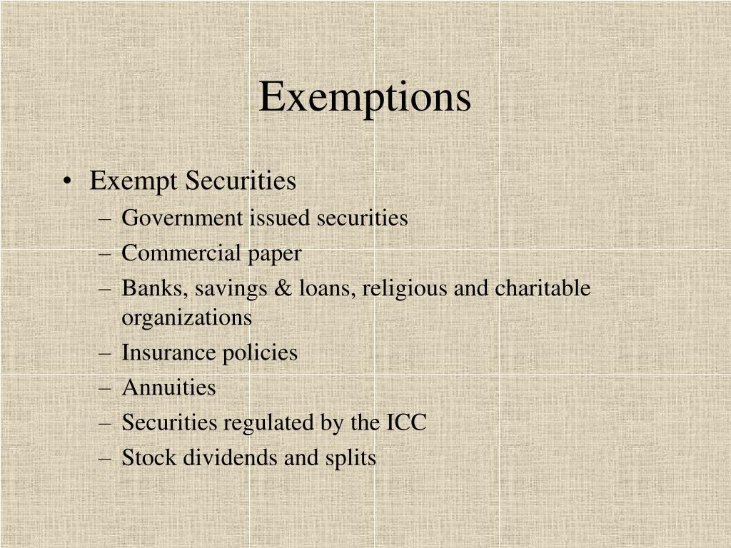 Exemptions