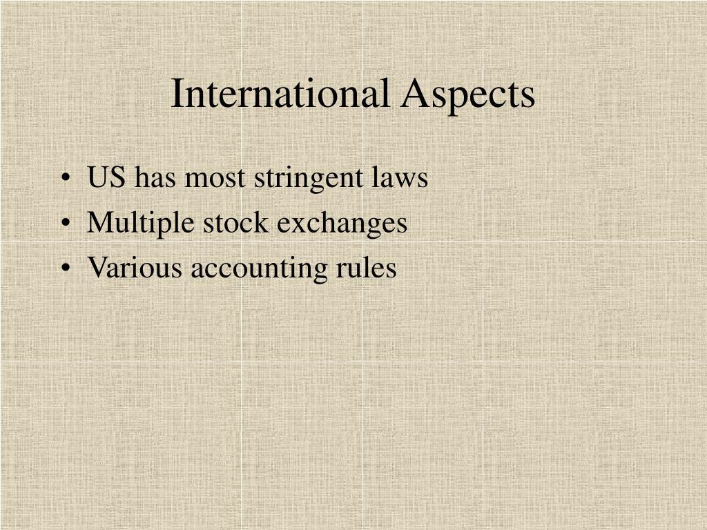 International Aspects