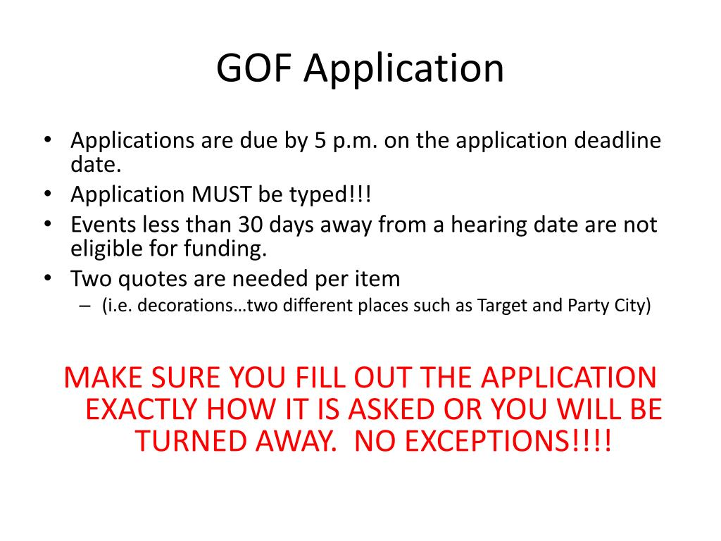 GOF Application