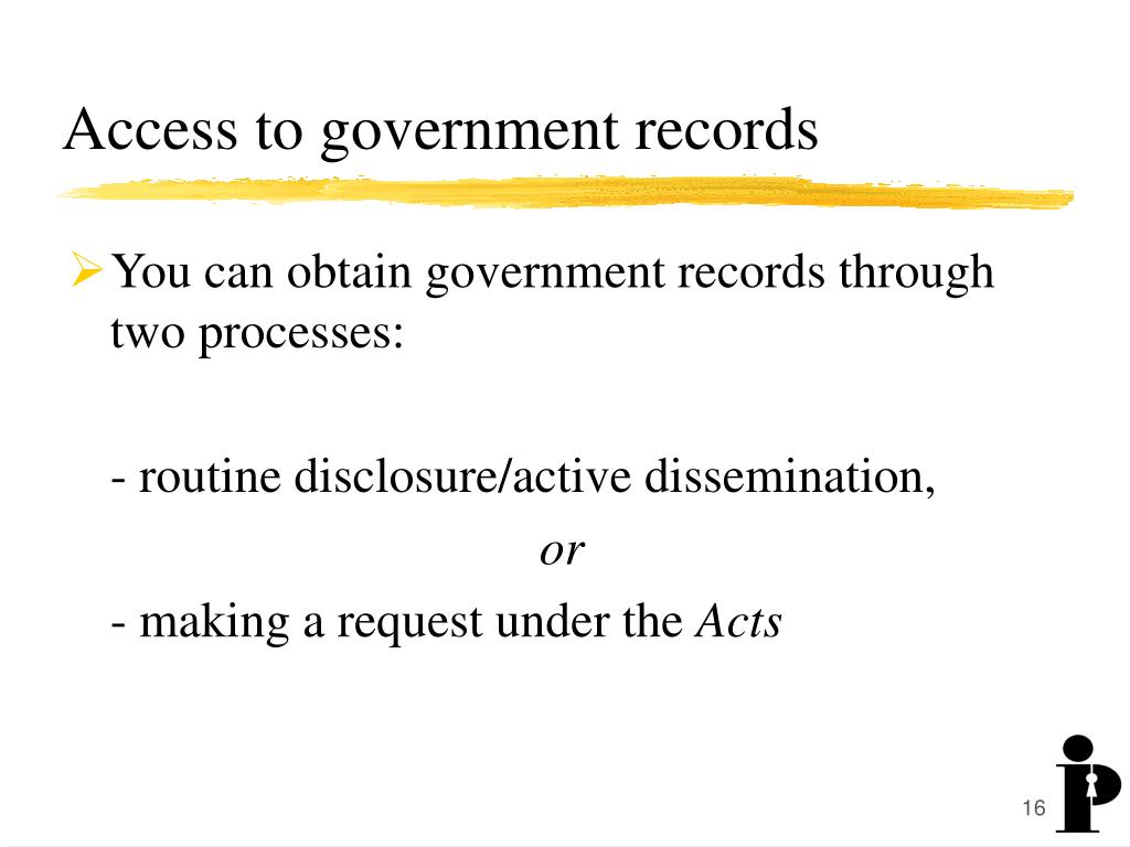 Access to government records