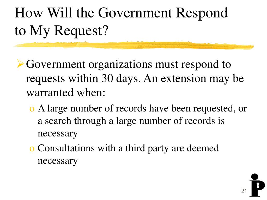 How Will the Government Respond to My Request?