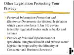other legislation protecting your privacy